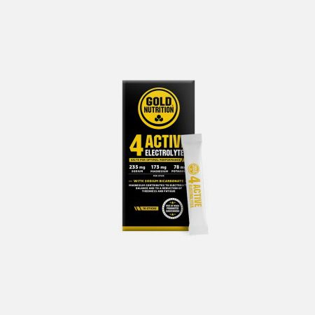 4 ACTIVE Electrolytes – 10 sticks de 3g – Gold Nutrition
