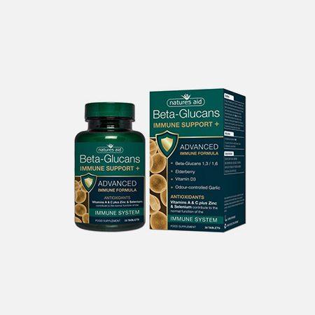 Beta Glucans Immune Support+ – 30 comprimidos – Natures Aid