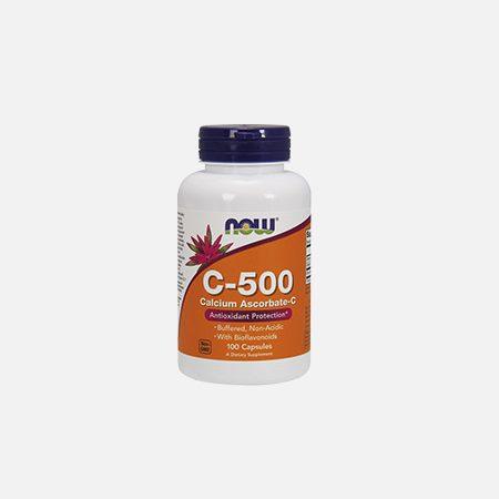 Vitamina C-500 Calcium Ascorbate – 100 cápsulas – Now