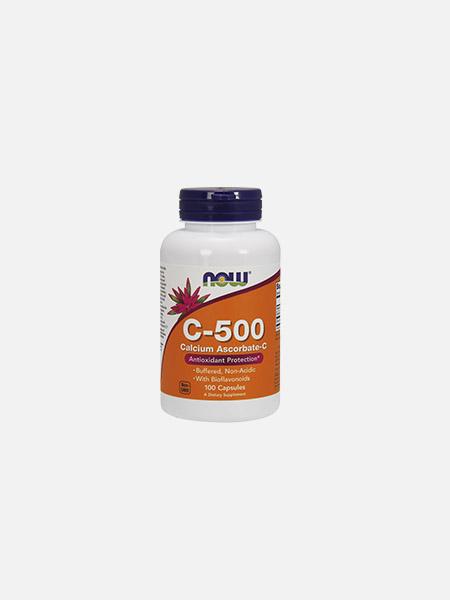 Vitamina C-500 Calcium Ascorbate - 100 cápsulas - Now