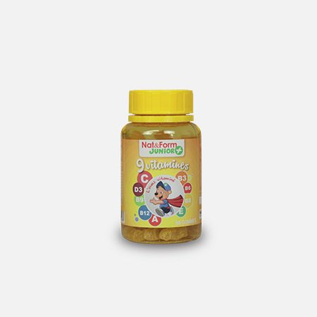 Super Ursinho 9 Vitaminas – 60 gomas – Nat&Form Junior