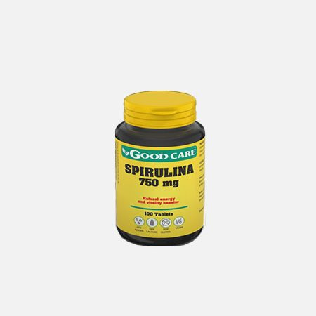 SPIRULINA 750 mg – 100 comprimidos – Good Care