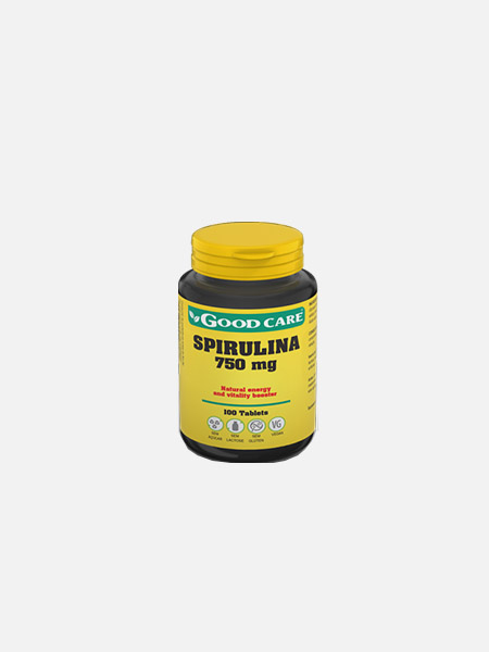 SPIRULINA 750 mg - 100 comprimidos - Good Care