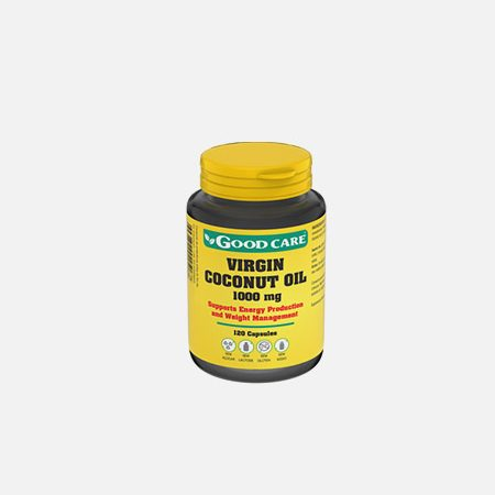 VIRGIN COCONUT OIL 1000 mg – 120 cápsulas – Good Care