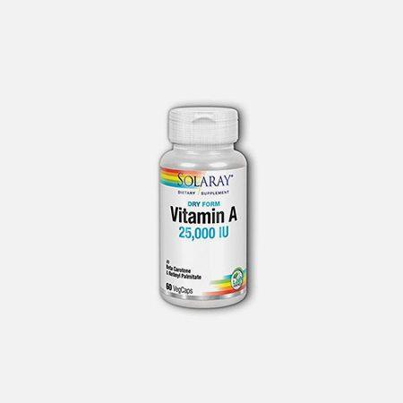 Vitamin A Emulsied Dry 25000IU- 60 cápsulas – Solaray
