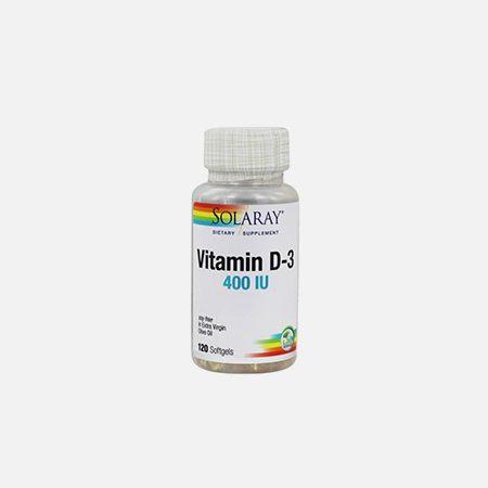 Vitamin D3 400 UI – 120 cápsulas – Solaray