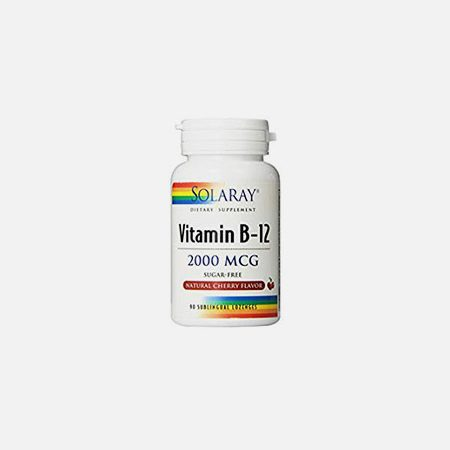 Vitamina B12 2000 mcg – 90 comprimidos – Solaray