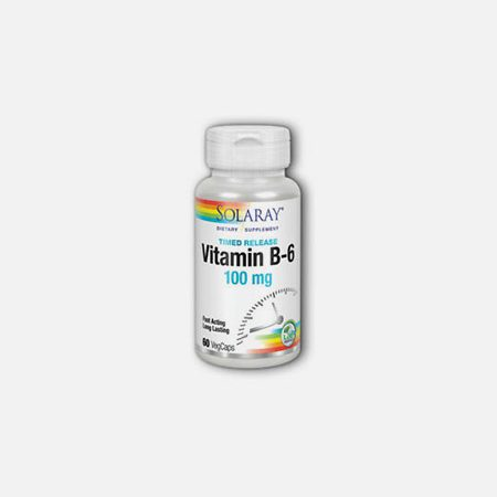 Vitamina B6 100 mg – 60 cápsulas – Solaray