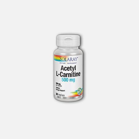 Acetyl L-Carnitine 500 mg – 30 cápsulas – Solaray
