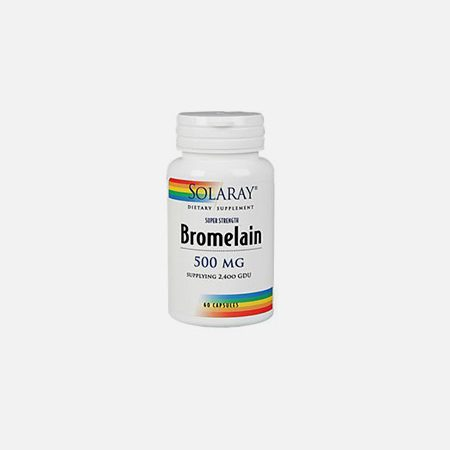 Bromelaina – 60 cápsulas – Solaray