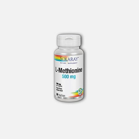 L-Metionina 500 mg – 30 cápsulas – Solaray