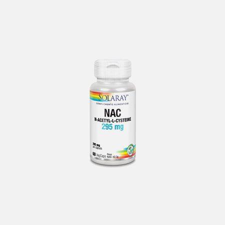 NAC 295 mg – 60 cápsulas – Solaray