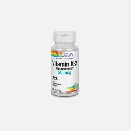 Vitamina K-2 (Menaquinona-7) – 30 cápsulas – Solaray