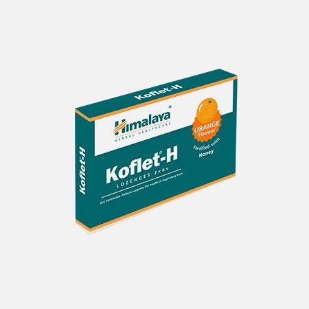Koflet-H sabor Laranja – 12 pastilhas – Himalaya