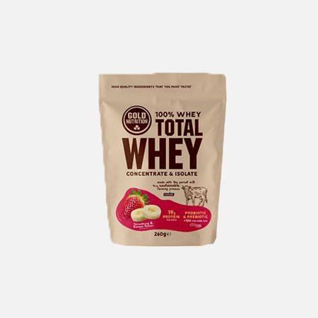 Total Whey sabor Morango-Banana – 260g – Gold Nutrition