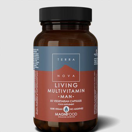 Living Multivitamin Man – 50 cápsulas – Terra Nova