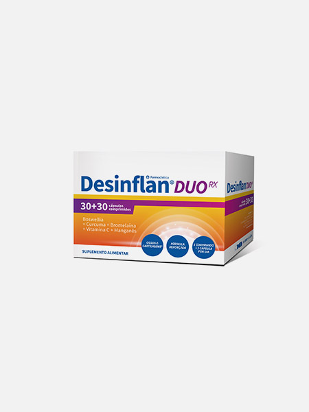 Desinflan Duo RX - 30 comp. + 30 cápsulas - Farmodiética