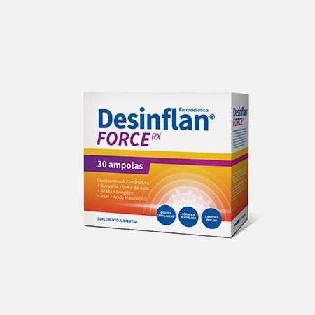 Desinflan Force RX – 30 ampolas – Farmodiética