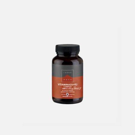 Vitamina D3+K2 Complex – 50 cápsulas – Terra Nova