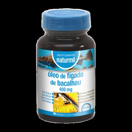 Naturmil Óleo de Fígado de Bacalhau 400mg – 90 cápsulas – DietMed