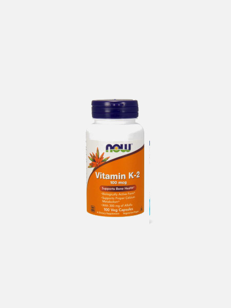 Vitamin K-2 - 100 mcg - 100 cápsulas - Now