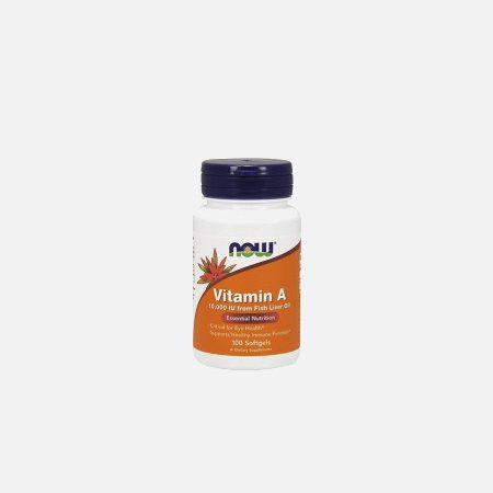 Vitamina A 10000 IU – 100 cápsulas – Now