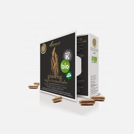 Ginseng Negro fermentado – 24 cápsulas – Soria Natural