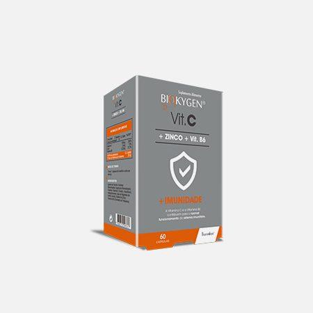 Biokygen Vitamina C + Zinco + Vit. B6 – 60 cápsulas – Fharmonat