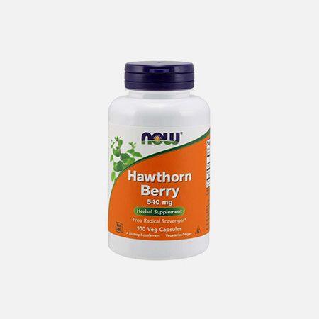 Crataegus Espinheiro Alvar Hawthorn Berry 540mg – 100 cápsulas – Now