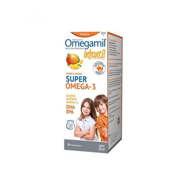 Omegamil Infantil Super Ómega 3 sabor Manga - 200 mL - Farmodiética