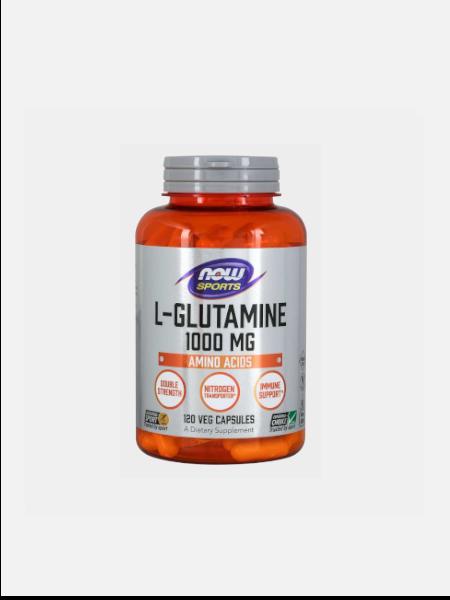 L-Glutamine 1000mg - 120 cápsulas - Now