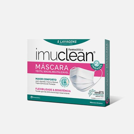 Imuclean máscara têxtil social reutilizável – 2 unidades – Farmodiética