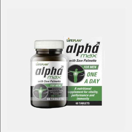 Alpha Max com Saw Palmetto – 60 comprimidos – Lifeplan