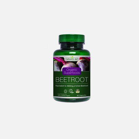 Beetroot Organic – 60 cápsulas – Natures Aid