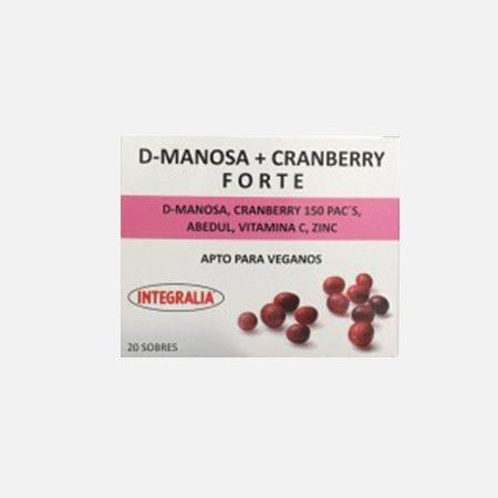 D-Manose + Cranberry Forte – 20 saquetas – Integralia