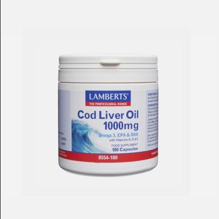 Cod Liver Oil 1000mg – 180 cápsulas – Lamberts
