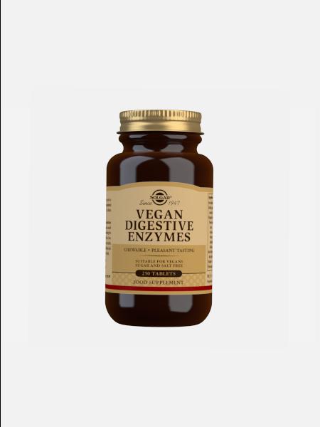 Vegan Digestive Enzymes - 250 cápsulas - Solgar