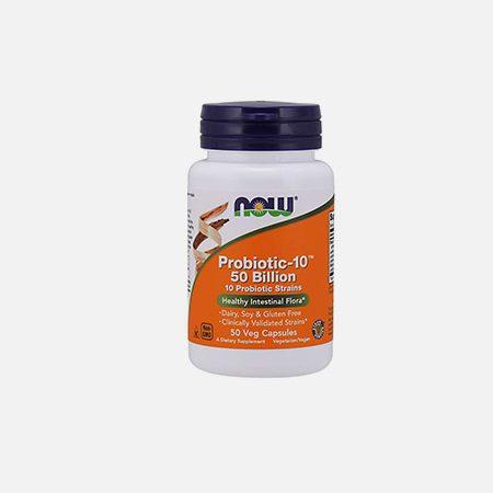 Probiotic-10 50 Billion – 50 cápsulas – Now