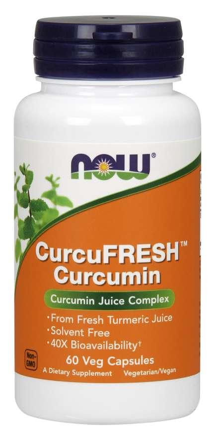 CurcuFRESH Curcumin - 60 cápsulas - Now
