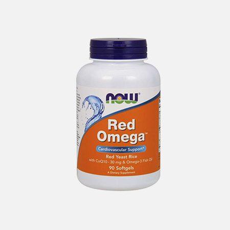 Red Omega – Ómega 3 + CO Q10 + Arroz Vermelho Bio – 90 cápsulas – Now