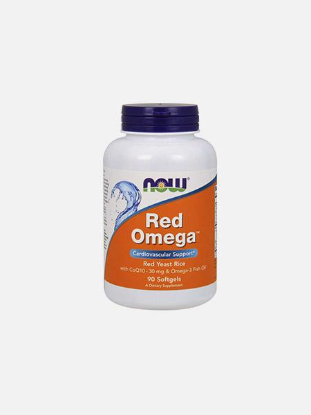 Red Omega - Ómega 3 + CO Q10 + Arroz Vermelho Bio - 90 cápsulas - Now