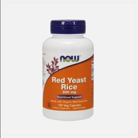 Red Yeast Rice 600mg – 120 cápsulas – Now