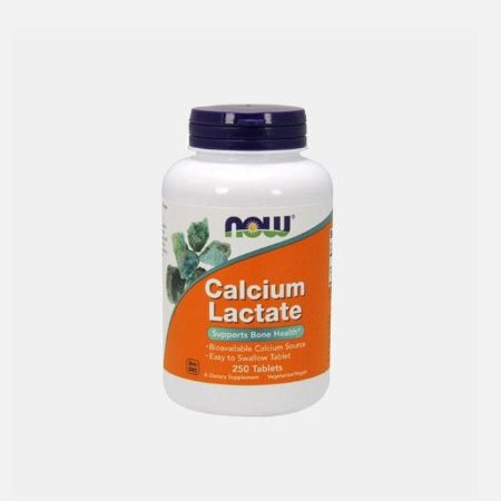 Calcium Lactate 650mg – 250 cápsulas – Now