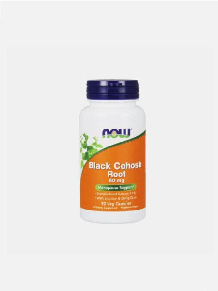 Black Cohosh Root 80mg - 90 cápsulas vegetais - Now