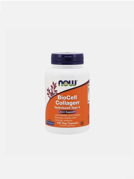 Biocell Collagen Hydrolyzed Type II - 120 Cápsulas - Now