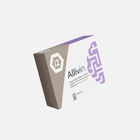 Allivin, Ginkgo Biloba, Melatonina, 5-HTP, Magnésio E Vitaminas – 30 cápsulas – I2Nutri