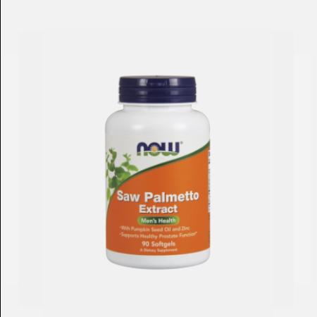 Saw Palmetto Extract – 90 cápsulas – Now
