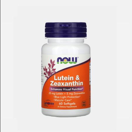 Lutein e Zeaxanthin- 60 cápsulas – Now
