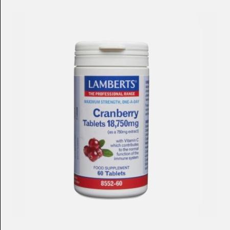 Cranberry 18750 mg – 60 comprimidos – Lamberts