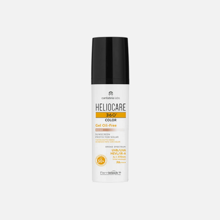 Heliocare 360º Color  Gel Oil-Free SPF 50+ (Beige) – 50ml – Cantabria Labs